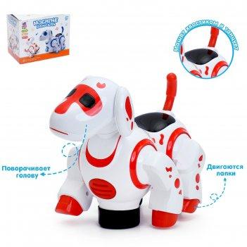 Игрушка-робот «собака», работает от батареек, световые и звуковые эффекты,