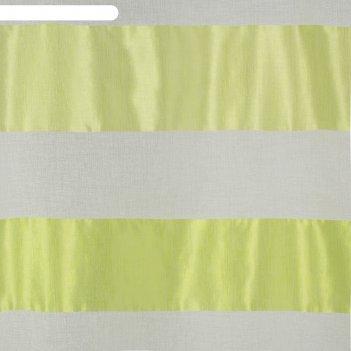 Тюль этель 290х280 зеленое лето (горизонтальная полоса) б/утяжелителя, 100