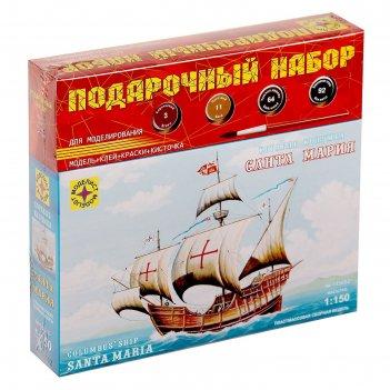 Набор сборной модели - корабль колумба  санта-мария  в подар. коробке(1:15