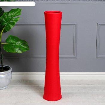 Ваза напольная труба, муар, красная, 76 см