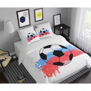 Кпб «футбольный клуб» дуэт, размер 220x240 см, 145x210 см-2 шт, 50x70 см,
