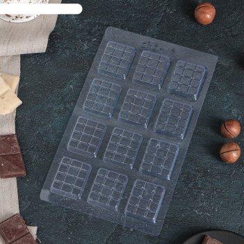 Форма для шоколада вкусная плитка шоколада 22x13 см
