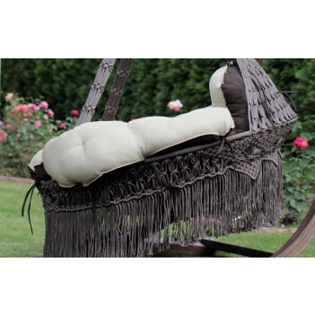 Подвесное плетеное кресло cartagena цвет коричневый