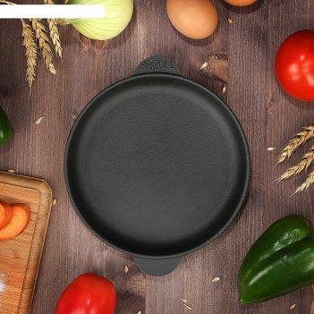 Сковорода чугунная порционная хорека, 140 х 25 мм, тм brizoll