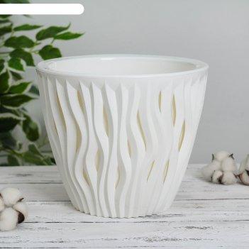 Кашпо «вдохновение», 5,7 л, цвет белый/белый
