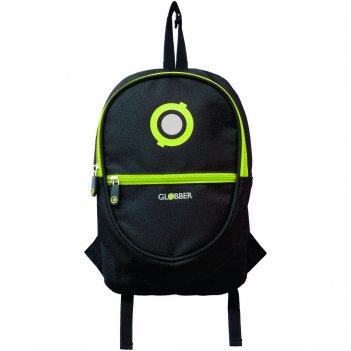 524-136 рюкзак globber для самокатов junior black/lime green