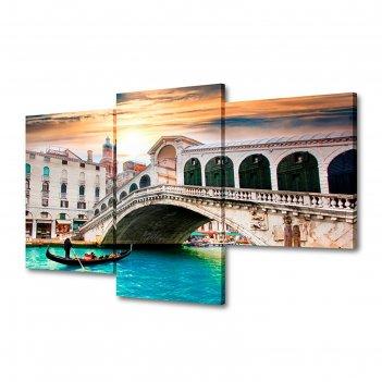 Модульная картина на подрамнике исторический мост, 26x40 см, 26x50 см, 26x