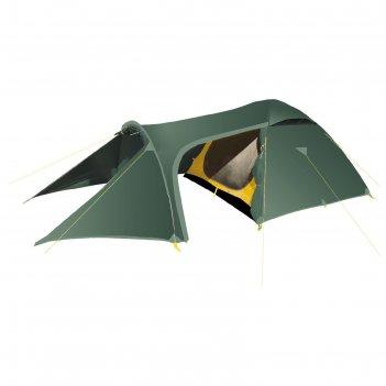 Палатка, серия trekking voyager, зеленая, трехместная
