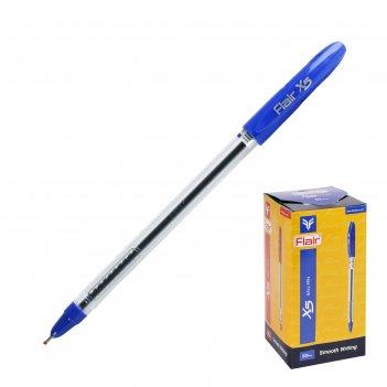 Ручка шариковая flair x-6 узел-игла 0.6мм, масляная основа, стержень синий