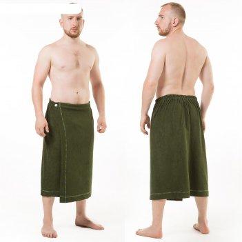 Килт(юбка) муж. махр. арт:ктр-1. 70х150 темно-зеленый, трикотаж, 190г/м, х
