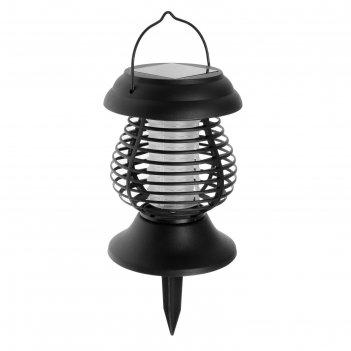 Садовый светильник на солнечной батарее uniel, 13 led, эффект пламени и ан