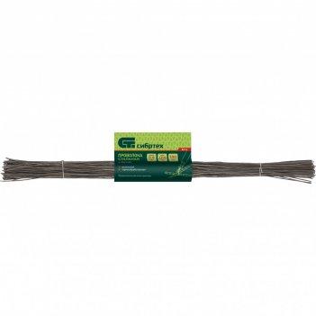 Проволока стальная в прутках 400 мм х 100 шт, вязальная, термообработанная