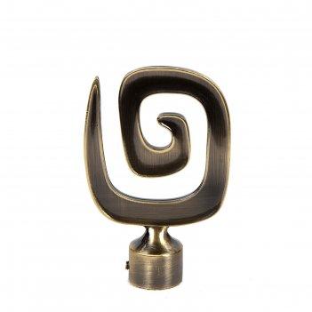 Наконечник «улитка», 2 шт, d=16 мм, цвет старое золото