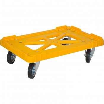 Тележка для  ящиков 600х400, грузоподъемность 200 кг. желтая