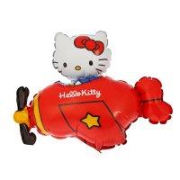 Шар фольга 14 hello kitty самолет красный фм