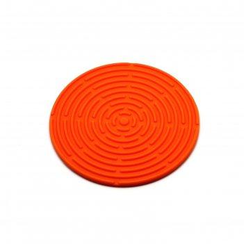 Подставка под горячее круглая, оранжевая