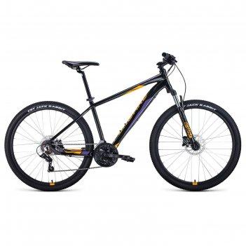 Велосипед 27,5 forward apache 3.2 disc, 2021, цвет черный/оранжевый, разме