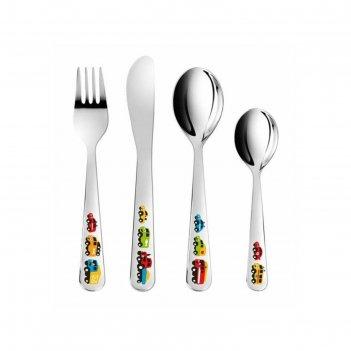 Набор детских столовых приборов tescoma bambini «машинки», 4 предмета