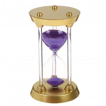 Часы песочные, ножки стекло 3шт, микс 17,5см