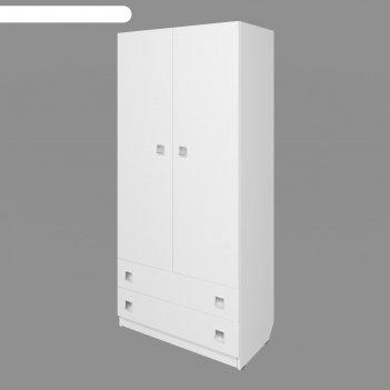 Шкаф «умка», 800 x 420 x 1790 мм, 2-х дверный с ящиками, цвет белый