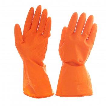 Перчатки хозяйственные прочные, размер l, цвет микс