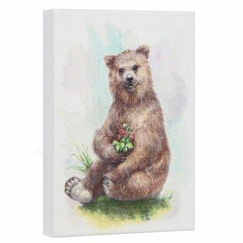 Постер лесная серия: медведь
