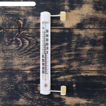 Термометр сувенирный наружный (оконный) на липучке, упаковка картон