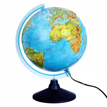 Интерактивный глобус физико-политический рельефный, диаметр 320 мм, с подс