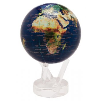 Глобус мобиле d16,5 см вид из космоса, цвет синий