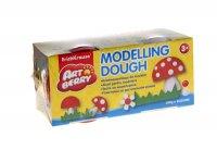 Пластилин на растительной основе modelling dough 2бан*100г красный и белый