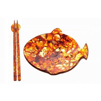 тарелки из янтаря