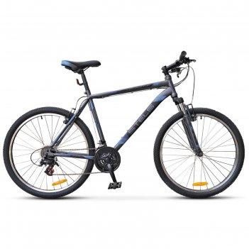Велосипед 26 stels navigator-500 v, v020, цвет антрацитовый/синий, размер