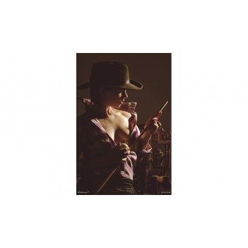 Постер snb01002 (500х700 мм) - девичьи игры на бильярде