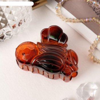 Краб для волос глянец тюльпанчик, 5,5 см
