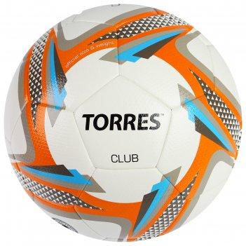 Мяч футбольный torres club, f31835, размер 5, 32 панели, pu, ручная сшивка