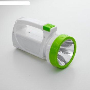 Фонарь аккумуляторный ручной  мастер к.mha-w3d2 (3 w),800 mah,1 вт+3 вт, 1