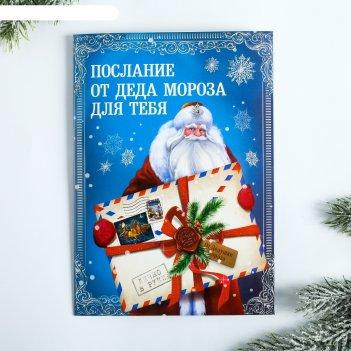 Говорящая открытка послание от деда мороза, 15 х 21 см