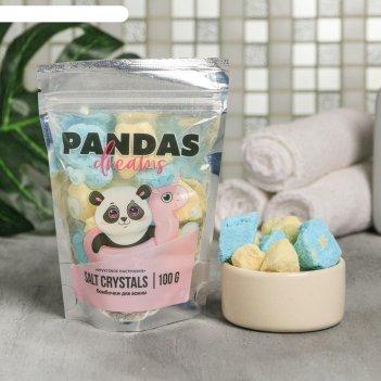Соляные кристаллы pandas dreams, 100 г
