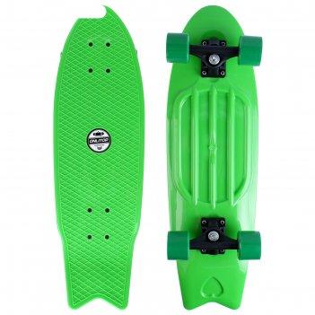 Скейтборд 2406f, 55,5x16 см, колеса pu, d=57х45 мм, микс