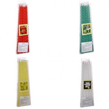 Набор из 4-х свечей, l7 w1.5 h25см, 4в