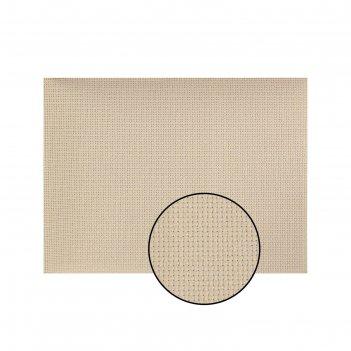 Канва для вышивания, №14, 30 x 40 см, цвет бежевый