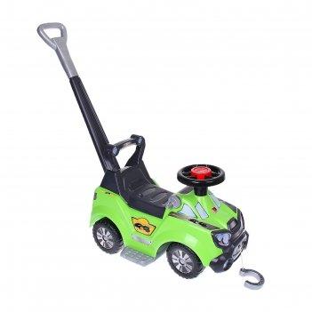 Каталка-автомобиль sokol с ручкой и подножкой