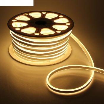 Гибкий неон двухсторонний 8 х 18 мм, 50 метров, led-120-smd2835, 220 v, те