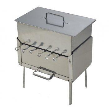 Mангал + коптильня набор для пикника кедр (нержавеющая сталь)