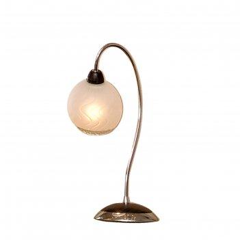 Настольная лампа оскар 1x60вт e14 хром, венге 19,5x13x34,5см