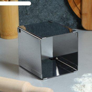 Форма для выпечки с регулировкой размера квадратная, 10-20 х 12 см