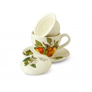Набор чашка с блюдцем 2 предмета  artigianato ceramico груша