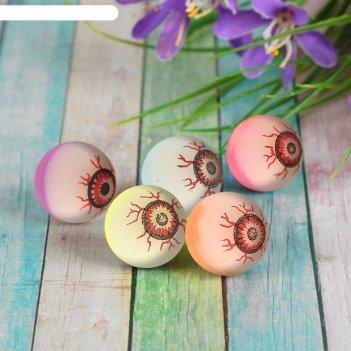 Мяч каучук глаз, цвета микс 3,2 см