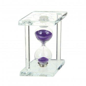 Часы песочные. серия стекло. 3 минуты. ромб с колонами, киса, микс 6*9,5м