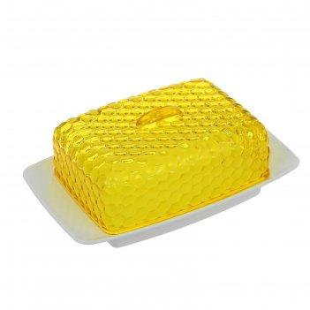 Масленка мозаика, цвет желтый